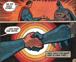 Superman Batman Handshake